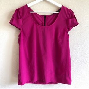 Zara Magenta Cap Sleeve Top